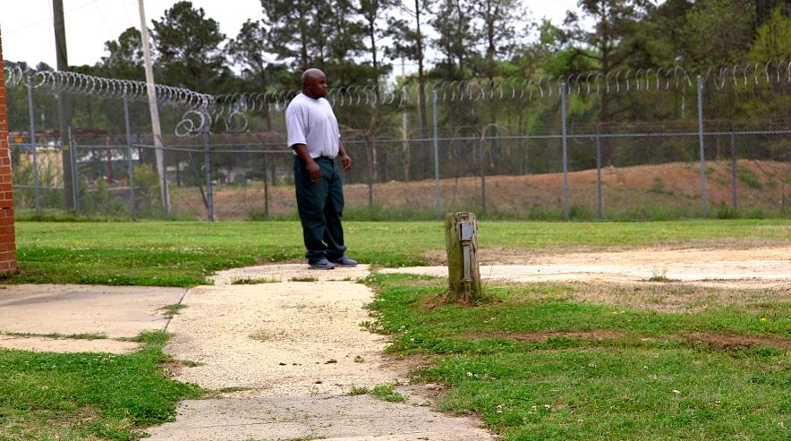 Lamon McCoy in a North Carolina prison yard